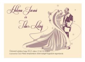 srílusos esküvői meghívó